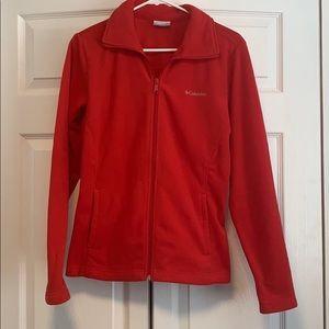 Bright red Columbia fleece zip up